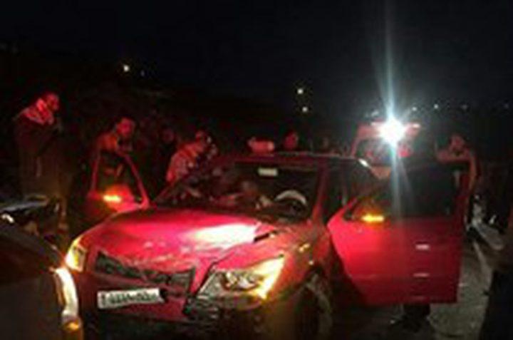 4 اصابات بحادث سير غرب سلفيت