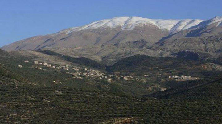 بالفيديو: الثلوج تغطي جبل الشيخ