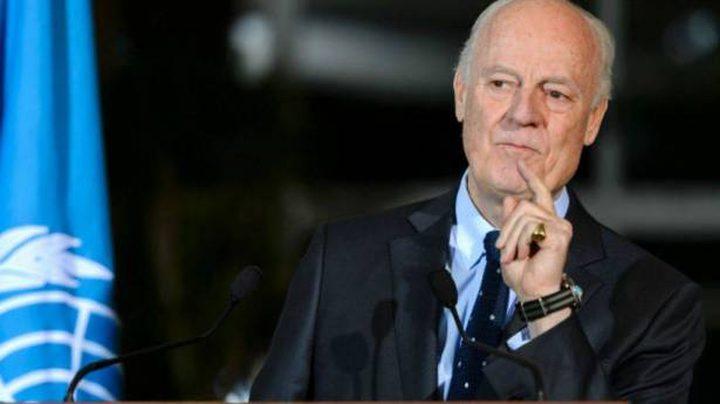 المعارضة السورية تهاجم ميستورا