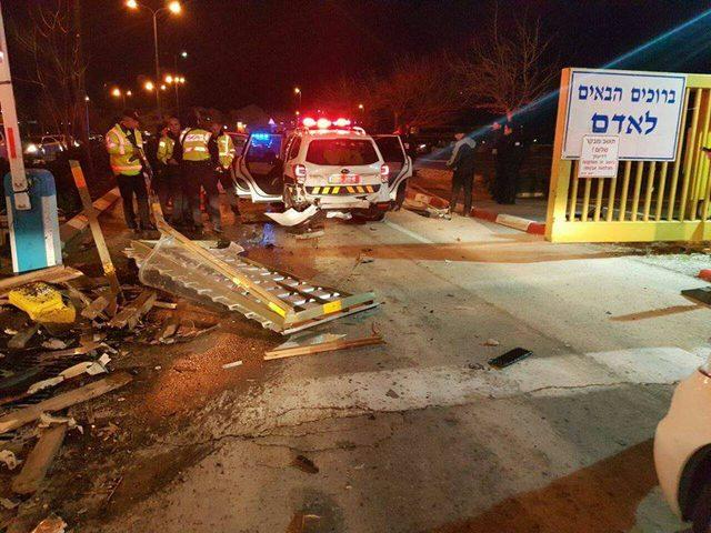 بالفيديو: إصابة ثلاثة من عناصر الشرطة الإسرائيلية بحادثة دهس