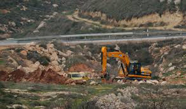 الاحتلال يسيطر على اراض جنوب نابلس