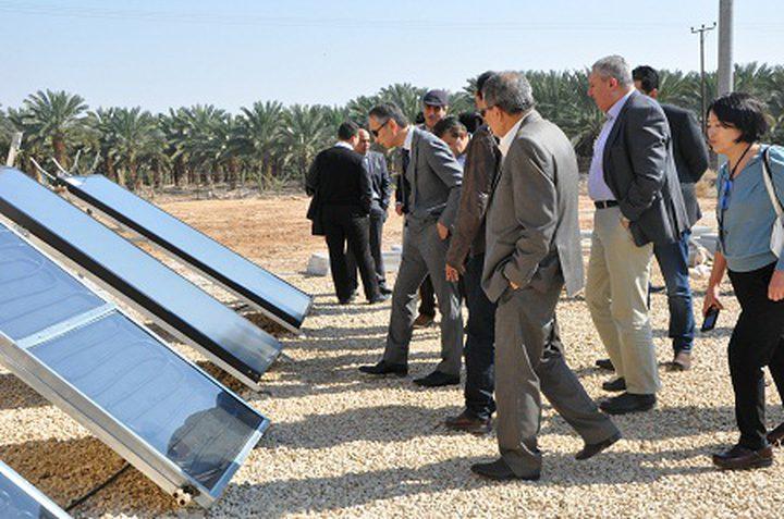 السفير الياباني يتفقد مشروع الطاقة الشمسية في أريحا