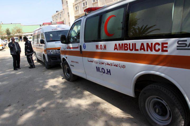 اصابة خمسة مواطنين بحادث سير في نابلس