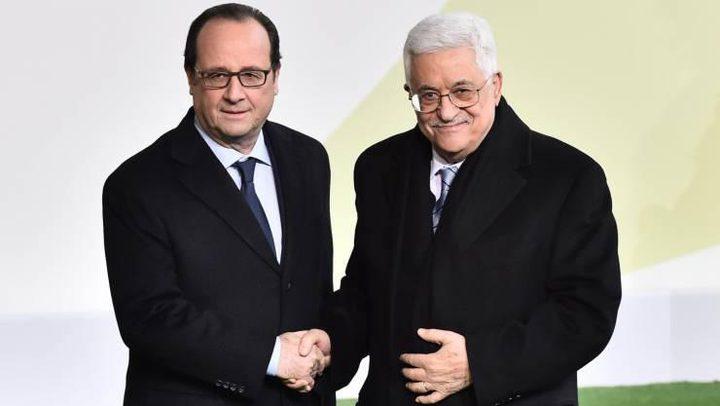 """الرئيس يبحث مع نظيره الفرنسي """"شرعنة المستوطنات"""""""