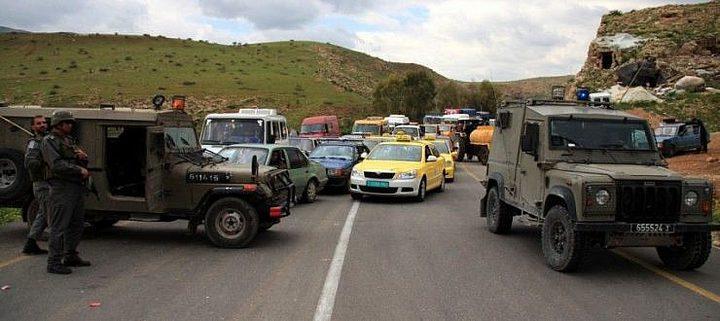الاحتلال يعرقل حركة المواطنين في طوباس