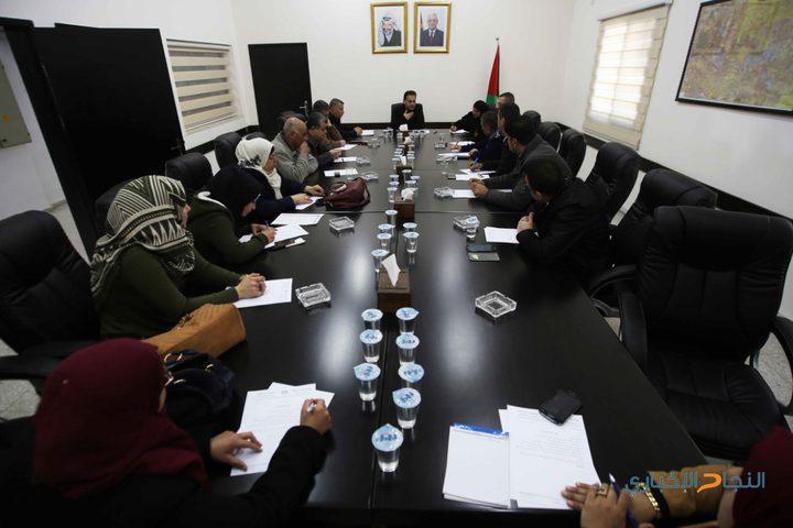 إجتماع دوري للجنة السير في محافظة قلقيلية
