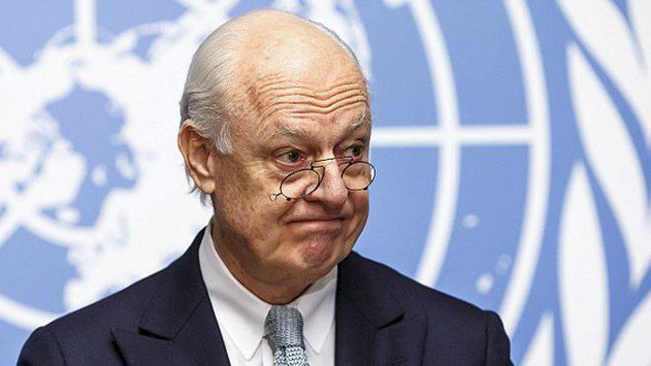"""دي ميستورا يتراجع عن تحذيره لـ""""السوريين"""""""