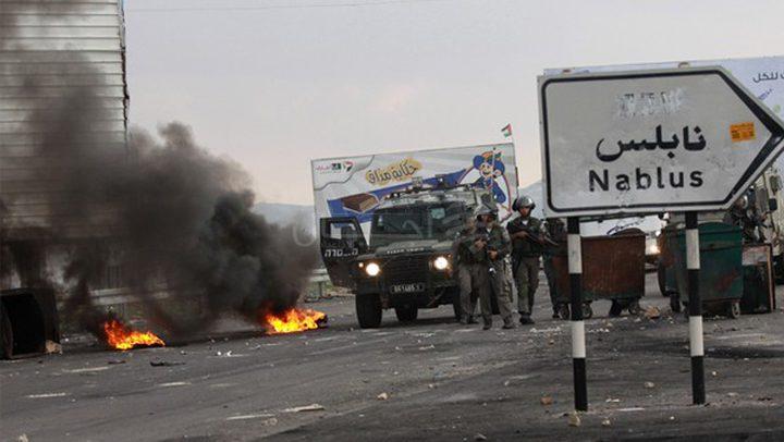 إصابات خلال مواجهات جنوب نابلس