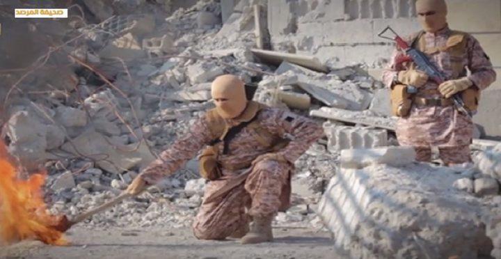 """""""داعش الإرهابي"""": """"هكذا أحرقنا الكساسبة"""" (فيديو)"""