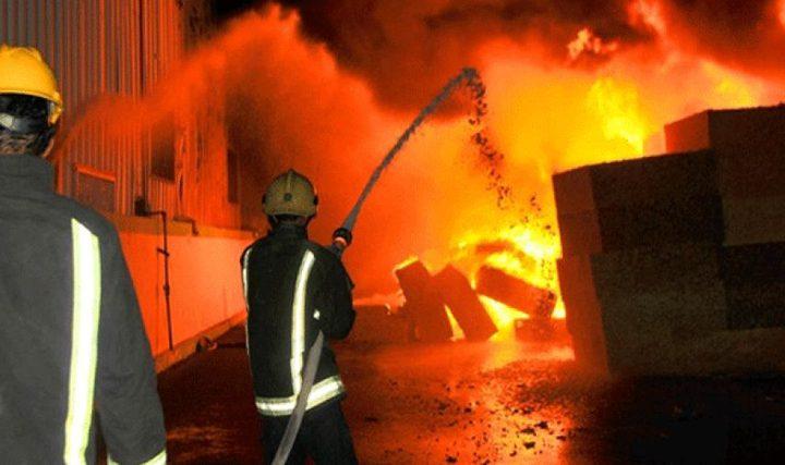 صاعقة كهربائية تحرق منزلاً في جنين