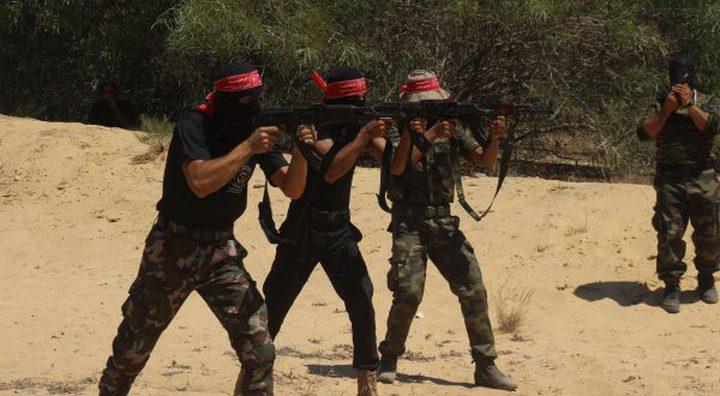إصابة مقاوم وسط قطاع غزة