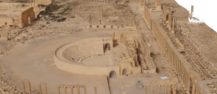 """فيديو ل""""الدفاع الروسية"""" حول تدمير داعش لتدمر"""