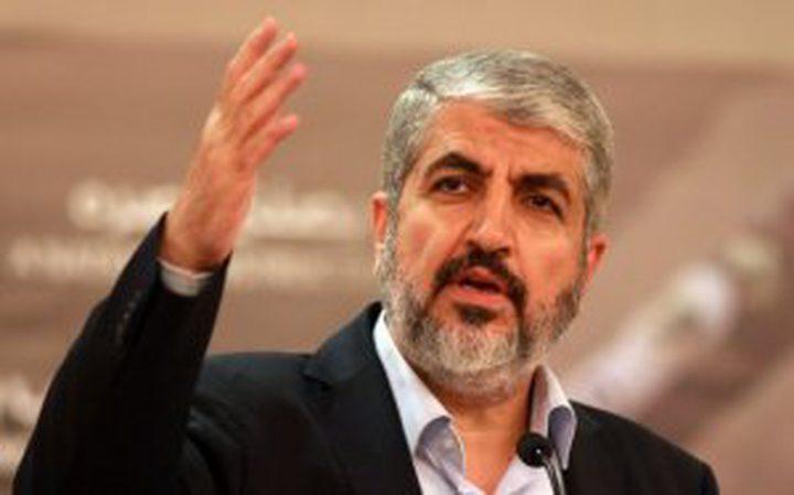 """مشعل: """"وثيقة لحماس"""" قريبا وأحذر """"إسرائيل"""""""