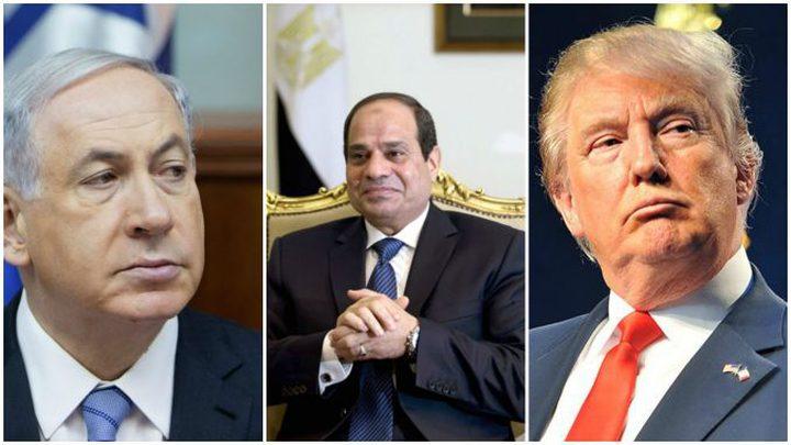 """وزير اسرائيلي يزعم: السيسي اقترح """"دولة في غزة وسيناء"""""""
