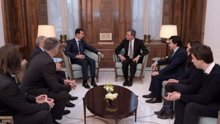 الأسد يكشف سر الوفد الفرنسي الذي التقاه