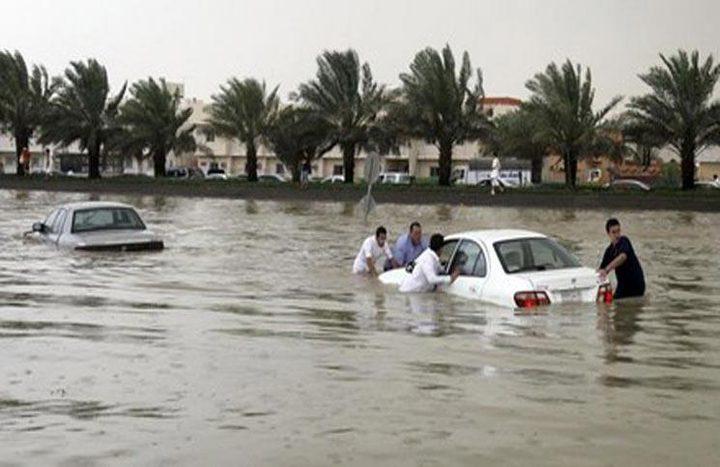 """السيول في السعودية"""" فيديو"""""""