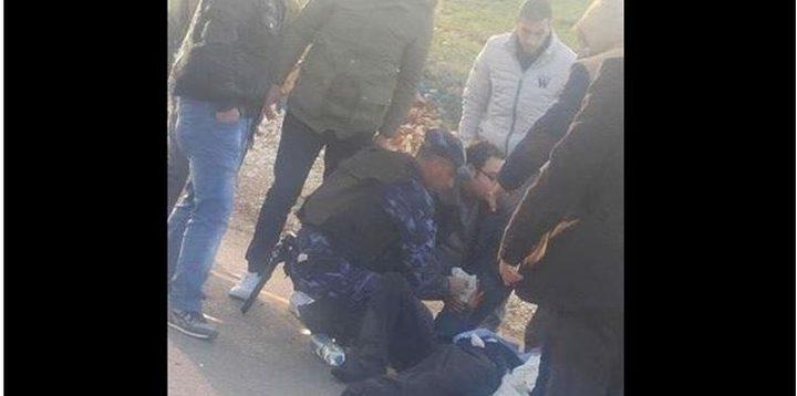 استشهاد ضابط شرطة دهسته مركبة غير قانونية في جنين