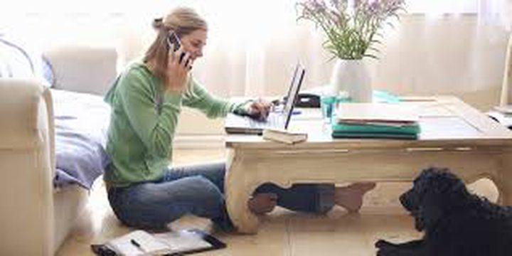 العمل من البيت قد يثير التوتر والقلق