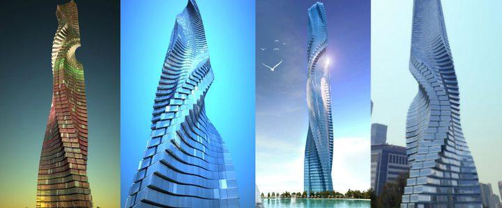 أول ناطحة سحاب دوارة في دبي