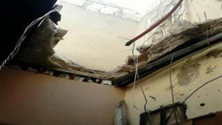 إصابة ستة في انهيار سقف مبنى في غزة