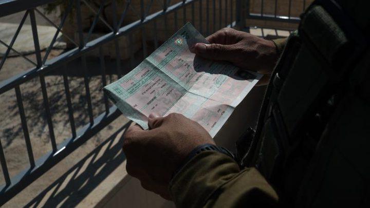 """الاحتلال يسحب 110 تصاريح عمل على حاجز """"الجلمة"""""""