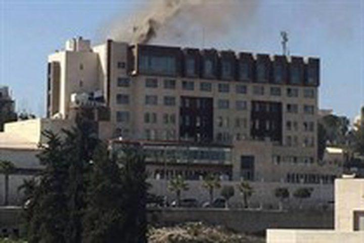 رام الله: إخلاء فندق شب فيه حريق