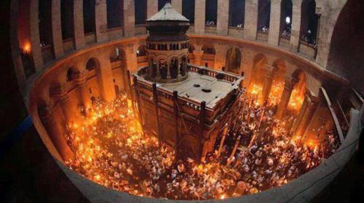 """الرئيس عباس والعاهل الأردني يدشنان """"ترميم القبر المقدس"""""""