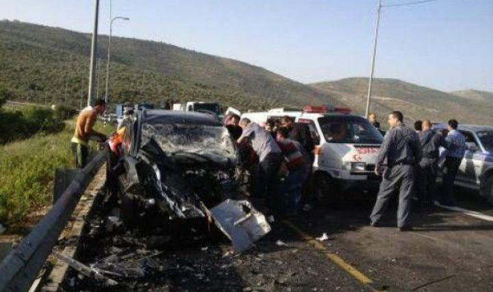 وفاة شاب واصابة 6 آخرين في حادث سير