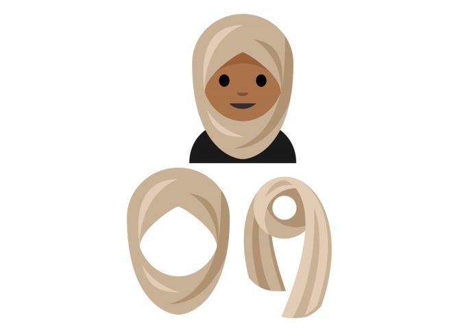 """شابة سعودية تبتكر """"ايموجي"""" محجبة"""