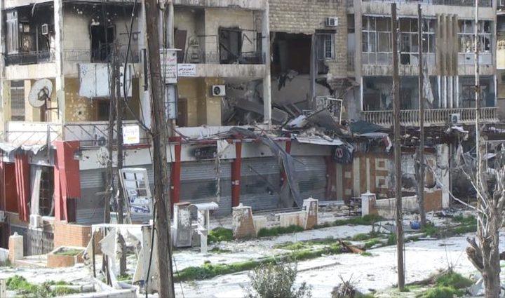 قصف أمريكي على الرقة السورية