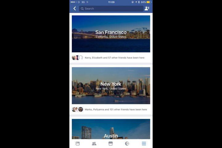 فيس بوك تضيف ميزة التخطيط للسفر