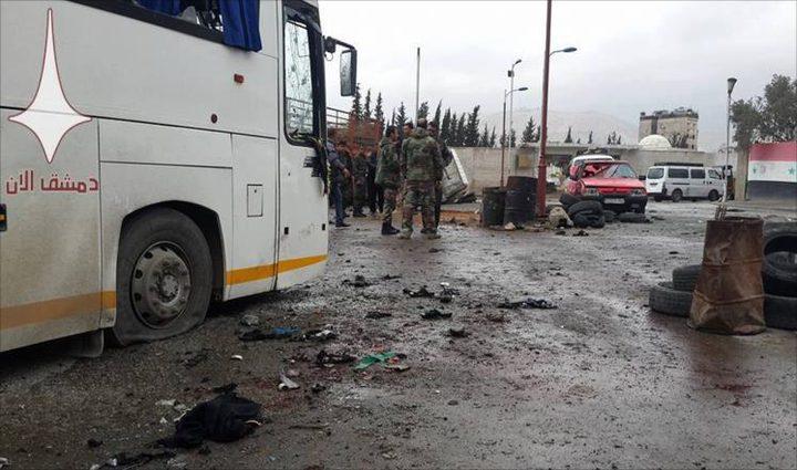 40 قتيلا خلال استهداف حافلات بدمشق