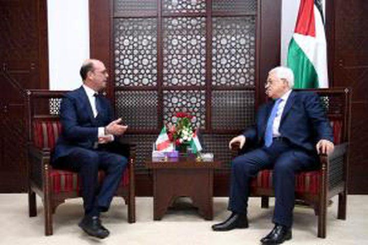 الرئيس يستقبل وزير الشؤون الخارجية والتعاون الدولي الإيطالي بمقر الرئاسة