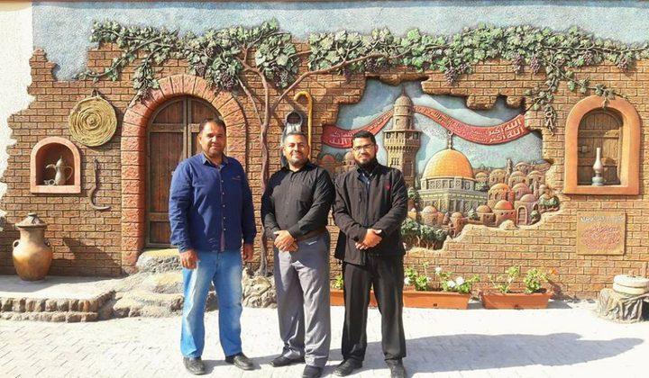 جدارن غزة ترفض عنصرية منع الأذان