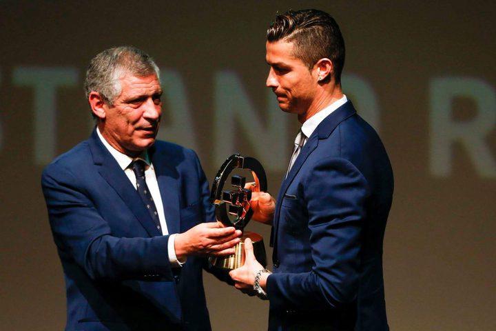 رونالدو يحصد جائزة أفضل لاعب برتغالي