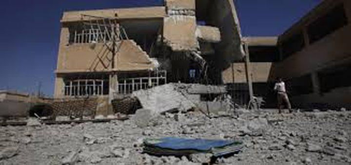 مقتل 33 شخصاً في غارة جوية على مدرسة في الرقة