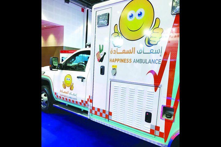 """أول """"سيارة إسعاف للسعادة"""" في دبي"""