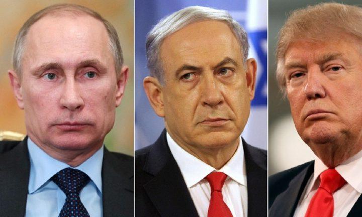 نتنياهو يتفق مع ترامب وبوتين لطرد ايران من سوريا