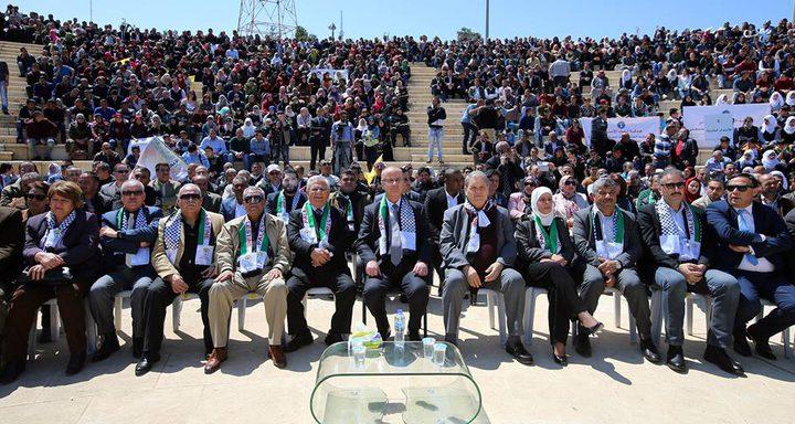 """رئيس الوزراء يشارك في مهرجان """"الالتفاف حول منظمة التحرير والتصدي للالتفاف عليها"""""""
