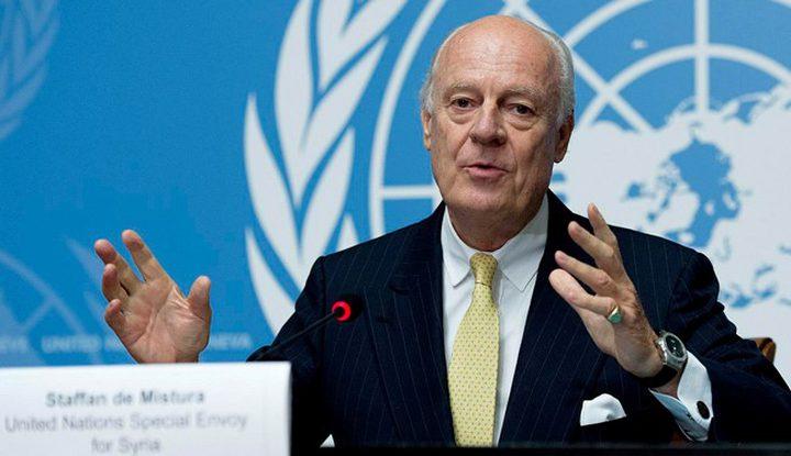 دي ميستورا يدعو الدول الضامنة لتثبيت الهدنة بسوريا