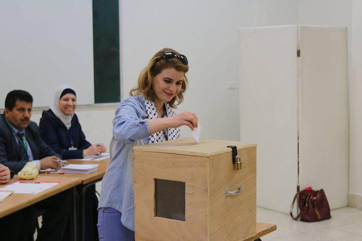 نسبة التصويت لطلبة النجاح بلغت 50%