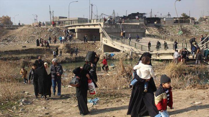 انشاء مخيم جديد للنازحين شرقي الموصل