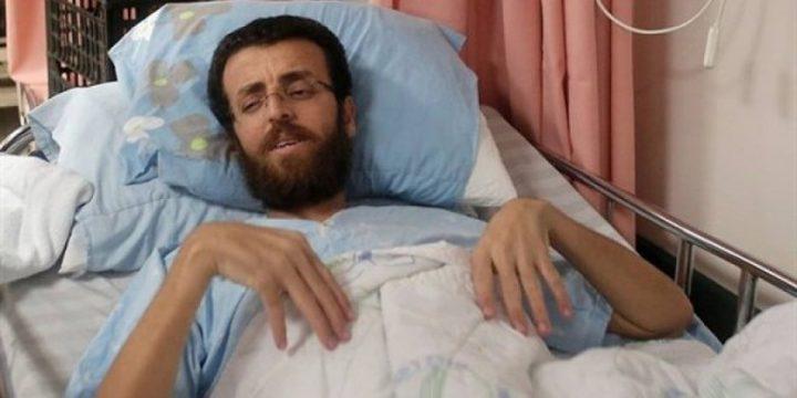"""نقل الأسير محمد القيق إلى سجن """"اوهار كيدار""""."""