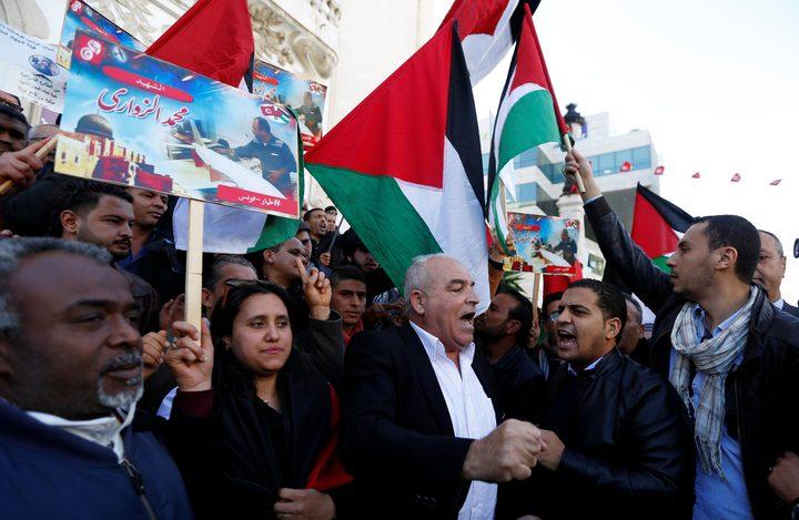 تظاهرة سياسية دعما للأسرى في تونس