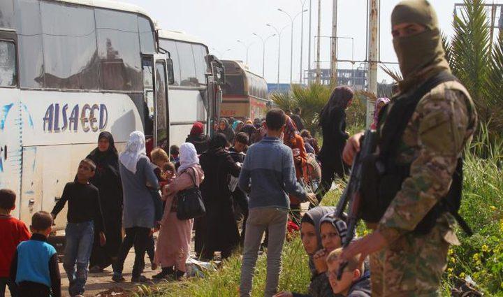 وصول مهجري الزبداني لمناطق سيطرة الجيش السوري في حلب