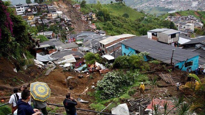 ارتفاع عدد ضحايا الانهيارات الأرضية في كولومبيا