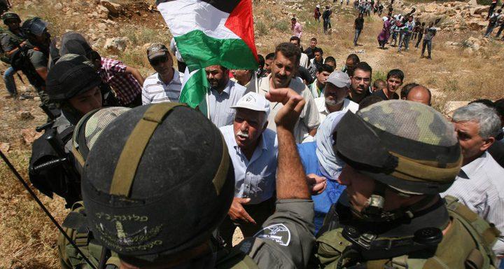 الاحتلال يقمع مسيرة إسناد للأسرى في رافات