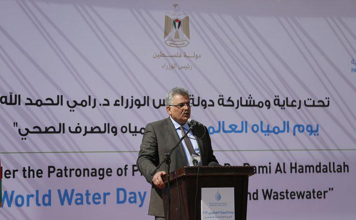 غنيم يمثل فلسطين في اجتماع وزراء المياه في واشنطن