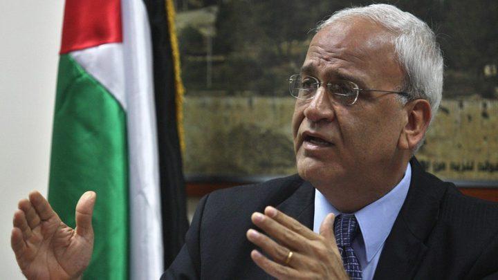 عريقات: لا دولة في غزة ولا دولة دونها