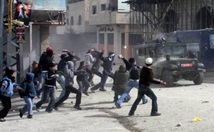 إصابة شرطي للاحتلال في مواجهات بشعفاط